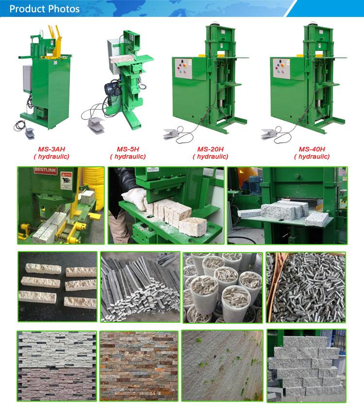 Máquina de división de mosaico de piedra hidráulica
